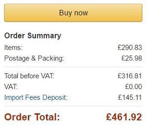 costo total ps4 pro en amazon.co.uk