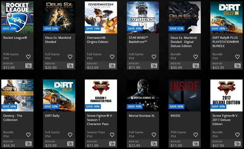 los juegos de venta de elección de los críticos en la psn store.