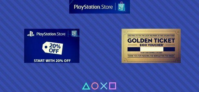 Sony envió códigos 20% descuento y vouchers $100