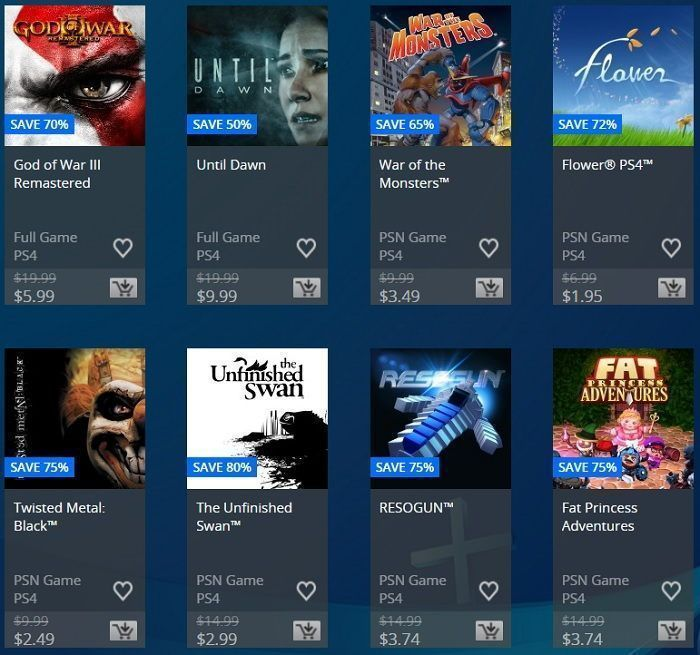 only on playstation sale en psn usa