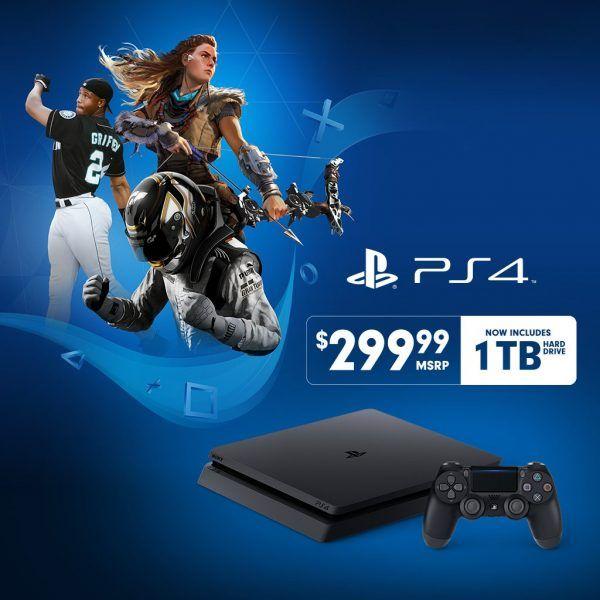 PS4 Slim 1Tb a 299.99 en USA y Canadá