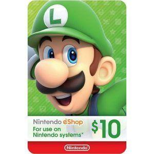 nintendo eshop $10 usa para switch, wii u y 3ds