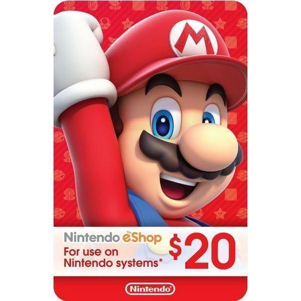 nintendo eshop 20 usd Usa para switch, wii u y 3ds