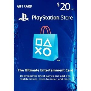 psn card 20 usd en la playstation store