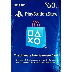 psn card 60 usd en playstation store ps4