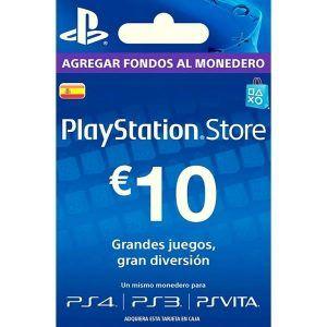 psn 10 euros españa para ps4, ps3 y ps vita