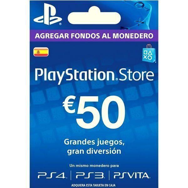 psn 50 euros españa para ps4, ps3 y ps vita