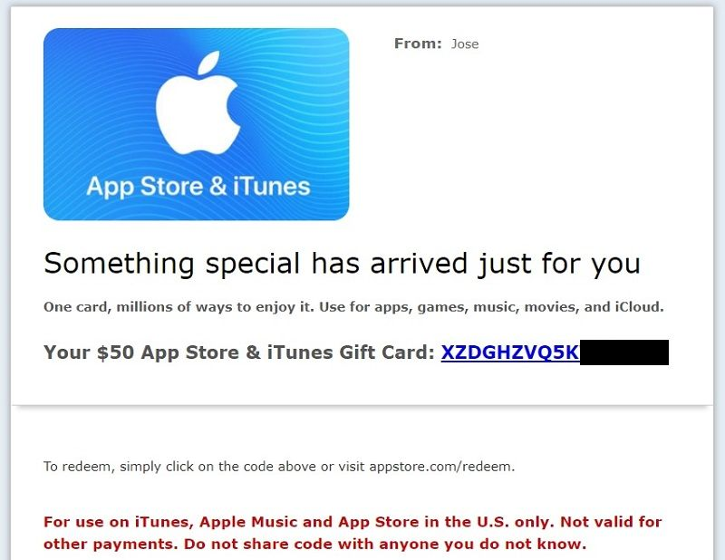 código de itunes gift card en amazon