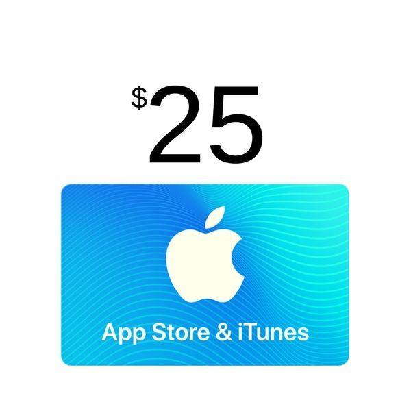 compra itunes gift card $25 usa, válido en app store