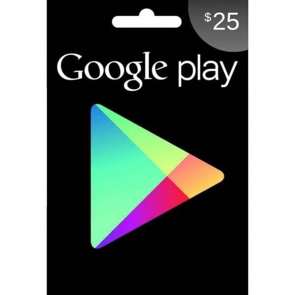 tarjeta de google play 25 usd usa