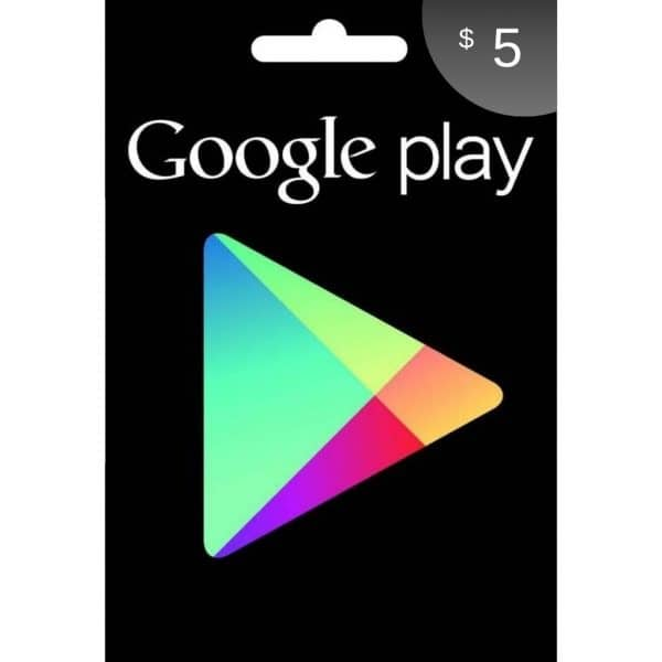 tarjeta google play 5 usd usa