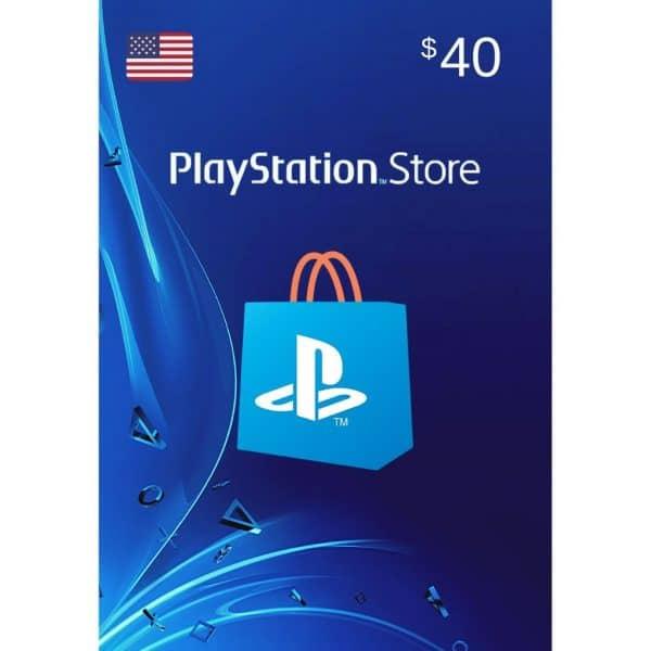 psn card 40 usd usa playstation store