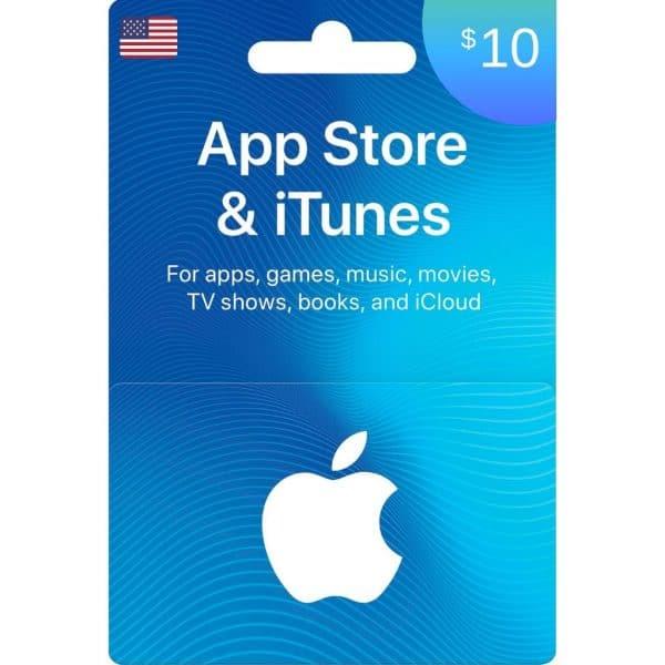 tarjeta itunes 10 dolares usa app store