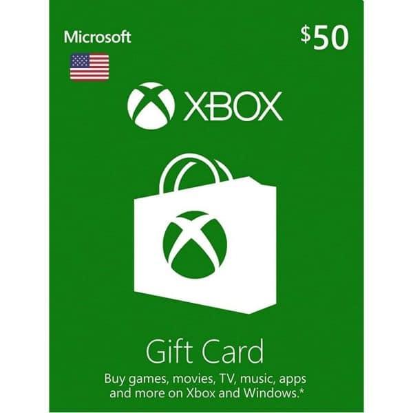 xbox gift card 50 usd usa xbox one 360