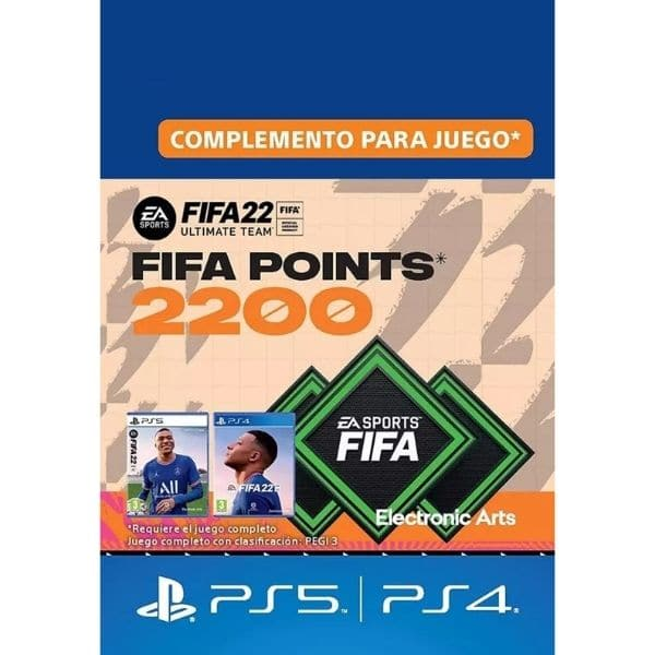 2200 fifa points ps4 ps5 fut 22 ultimate team