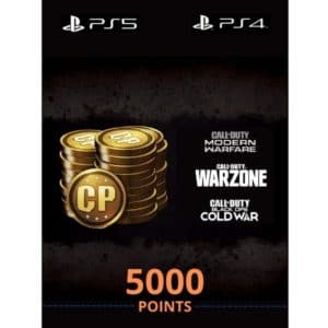 5000 cod points ps5 ps4 call of duty modern warfare black ops warzone