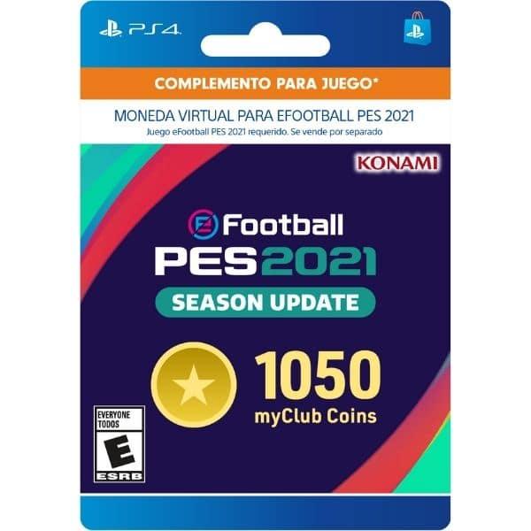 1050 monedas myclub ps4 pes 2021 coin pro evolution soccer