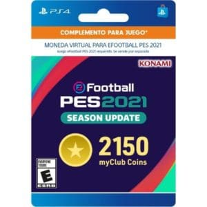 2150 monedas myclub ps4 pes 2021 coin pro evolution soccer