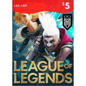 league of legends 5 usd las lan lol riot points rp