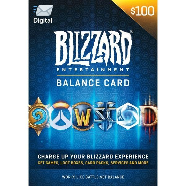 battle.net $100 us en blizzard balance entertaiment