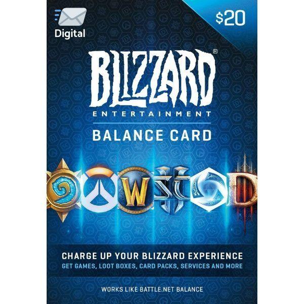 battle.net $20 us en blizzard balance entertaiment