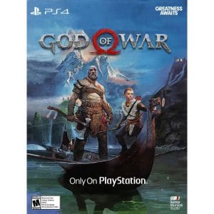 god of war ps4 junto a kratos y atreus
