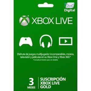 xbox live gold 3 meses para xbox one y xbox 360